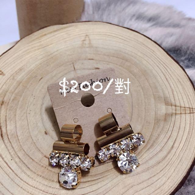 韓國飾品 鋯石系列耳環