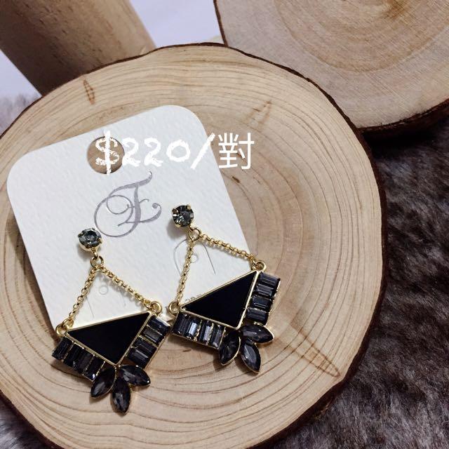 韓國飾品 復古桂冠耳環