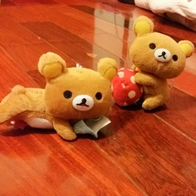 【拉拉熊】娃娃、吊飾 兩隻$50