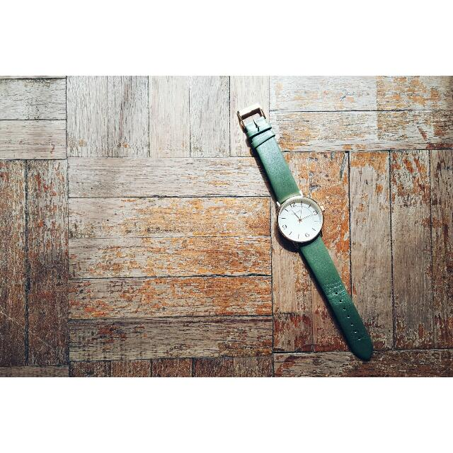正韓 復古優雅 古典綠 小資女手錶