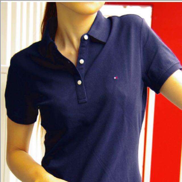 (降價)全新 Tommy Hilfiger 深藍 Polo 衫
