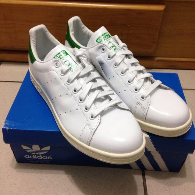 限時一週降價 Adidas Stan Smith 白綠 薄鞋舌 余文樂