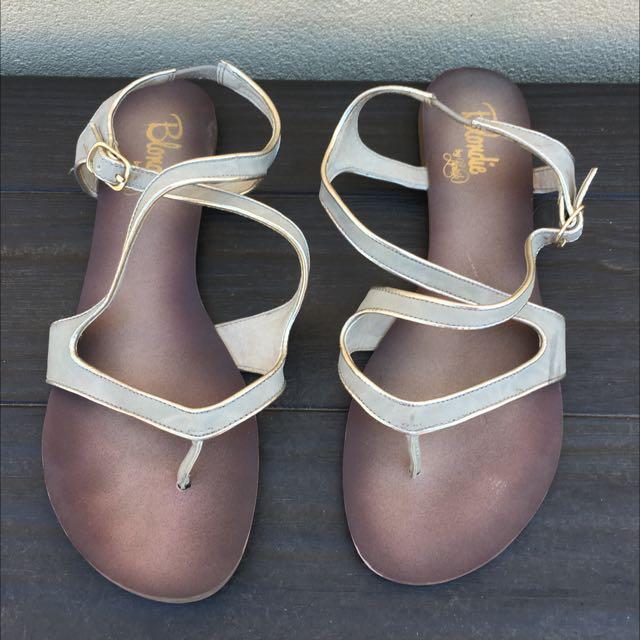 Barbie by Lipstick Flat Sandal - Size 8