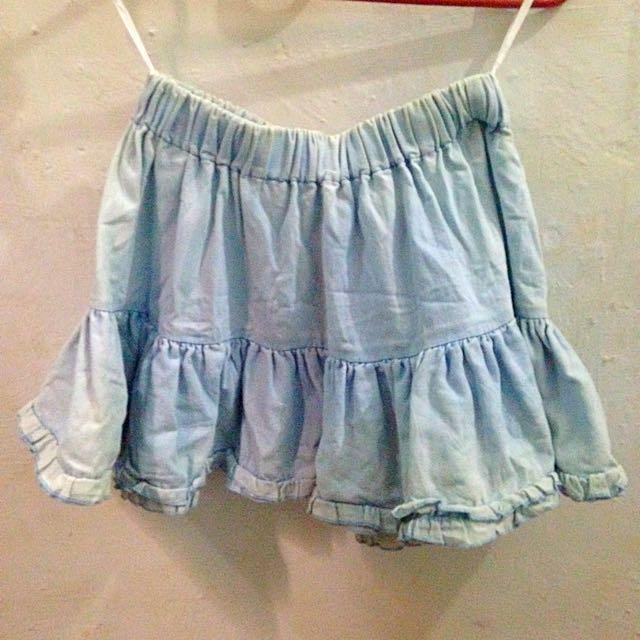 Bleach Jeans Skirt