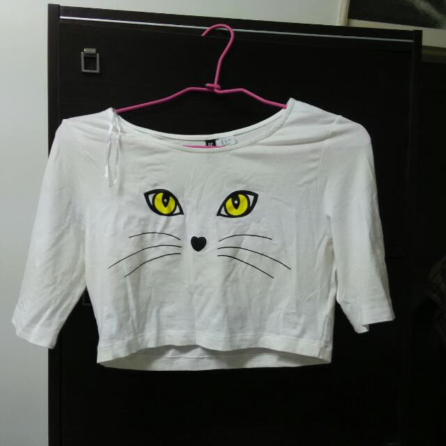 H&M貓咪短T