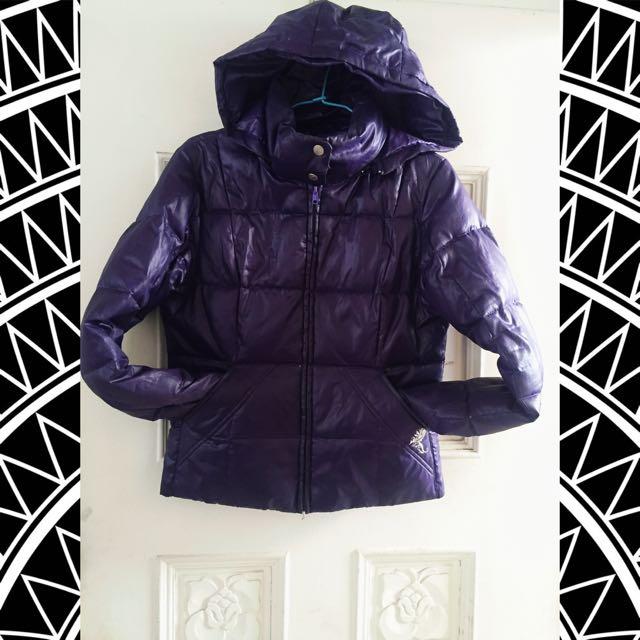✨✨LEE COOPER個性藍紫色羽絨暖外