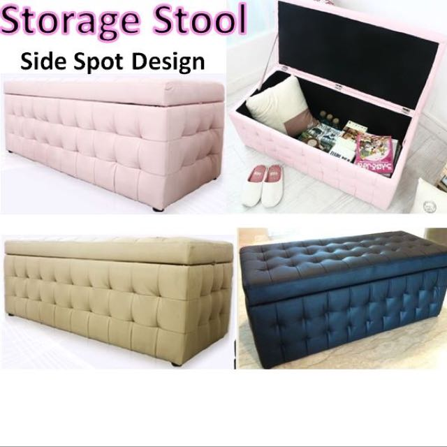 Sofa Bench With Storage Grey Fabric Storage Bench Steal A