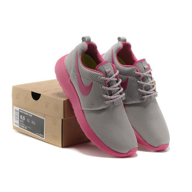 sale retailer 9715a fc039 Nike Roshe Run (Grey, Pink) on Carousell