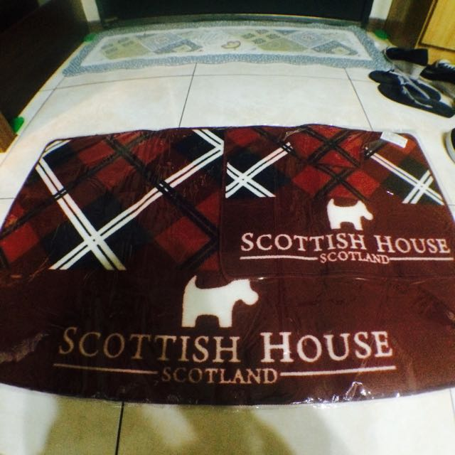 SCOTTISH HOUSE 防滑腳踏墊 買大送小 正版