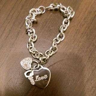愛心鑰匙鎖頭 愛情象徵 手鍊