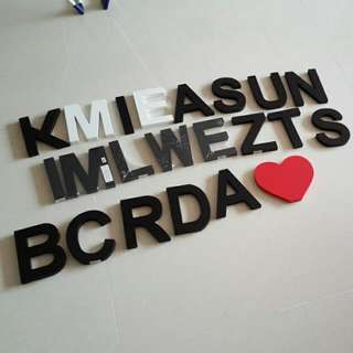 Typo Wooden Letters