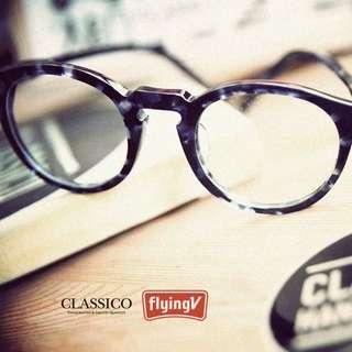 Classico 復古 藍琥珀 圓眼鏡