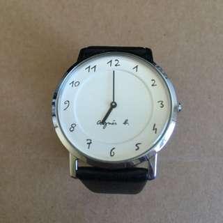 (保留中)agnes b 手錶 33mm 二手 錶帶全新