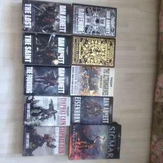 Warhammer 40k Omnibus $10 Each. Some Warhammer Omnibus Also. Horus Heresy Novels At $5