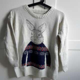 小白兔針織毛衣