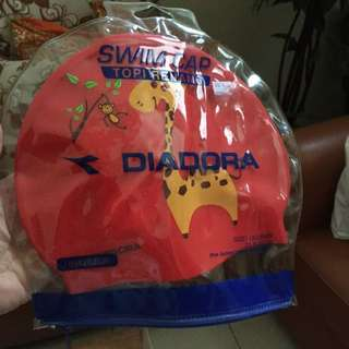 Diadora Swim Cap Sz 21x18 For Kids Original