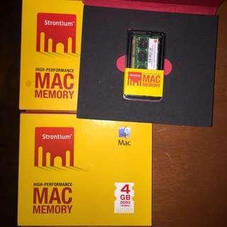 8GB, 2x4GB DDR3 RAM 1333Mhz (Macbook Pro Memory) Strontium