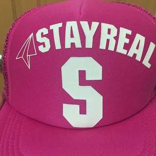 Stayreal 桃紅棒球帽