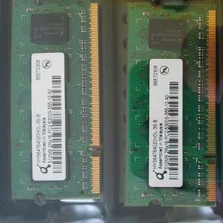 4 x 512MB used laptop ram