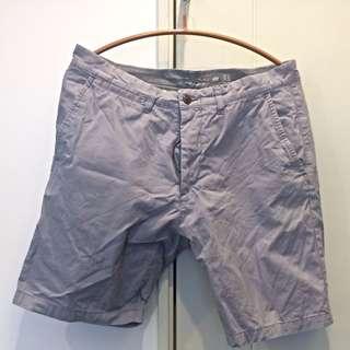 H&M 紫灰短褲 腰32