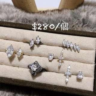 韓國飾品 鋯石款戒指