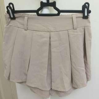 杏色雪紡褲裙