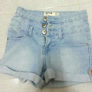 Cotton On High Waisted Denim Short Pants