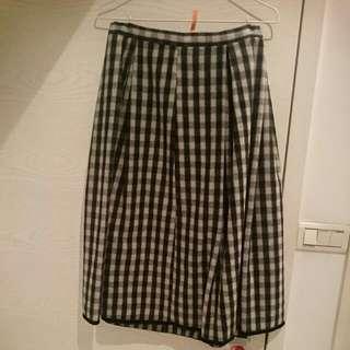 冬季厚毛格子裙(有同組圍巾)