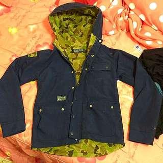 Woodstuck 女深藍色迷彩外套$590