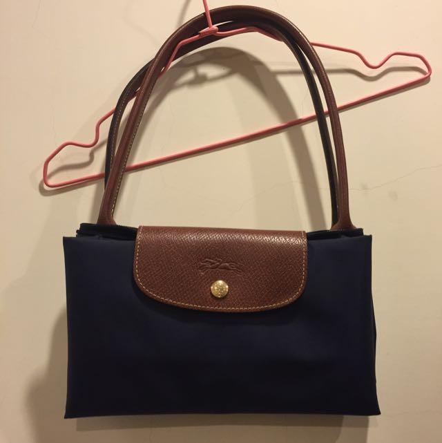 匯款中 8成新Longchamp長背帶 L號 藍色