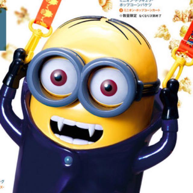 日本環球影城✨正版萬聖節限定✨吸血鬼小小兵造型爆米花桶