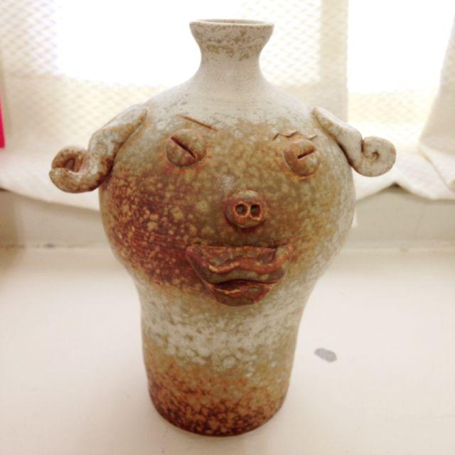 手捏藝術花瓶~喜感型 陶藝