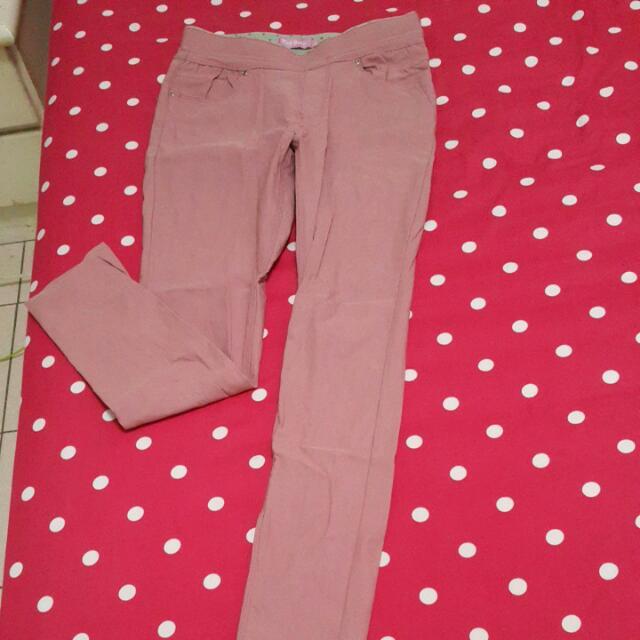 顯瘦內搭褲,粉色