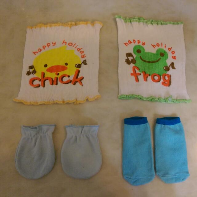 全新寶寶肚圍送襪子手套