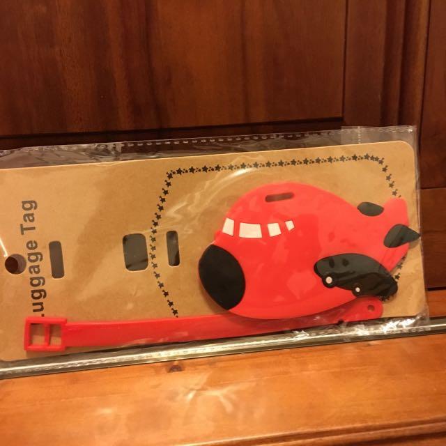 可愛飛機圖案行李吊牌