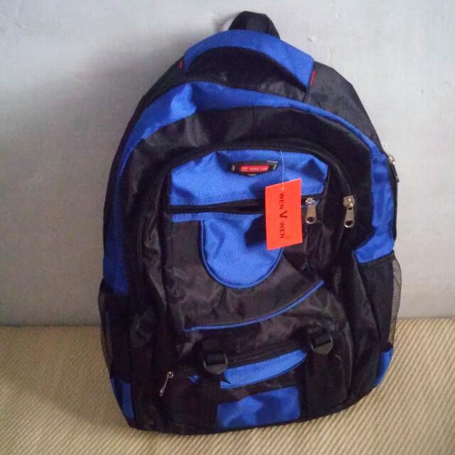 機能型後背包 登山包 寶藍 書包
