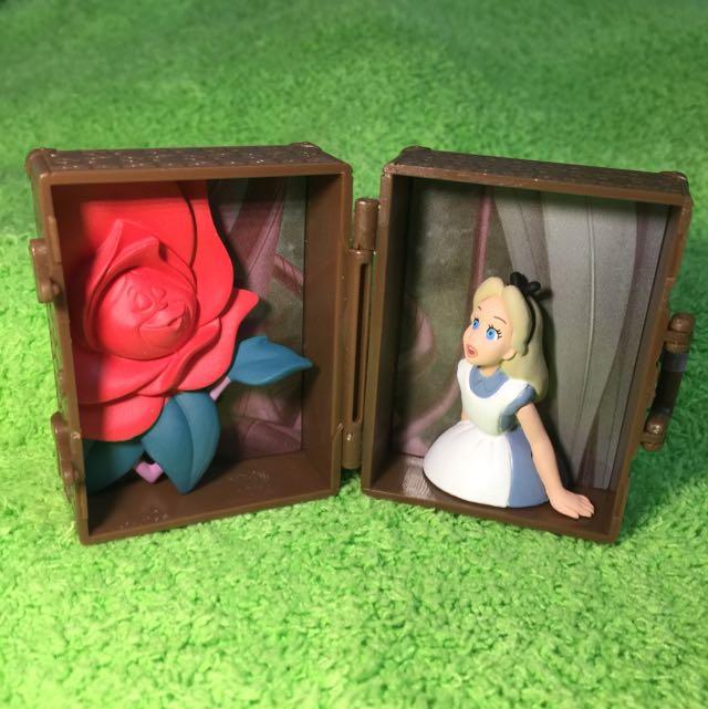 迪士尼 行李箱 扭蛋 愛麗絲