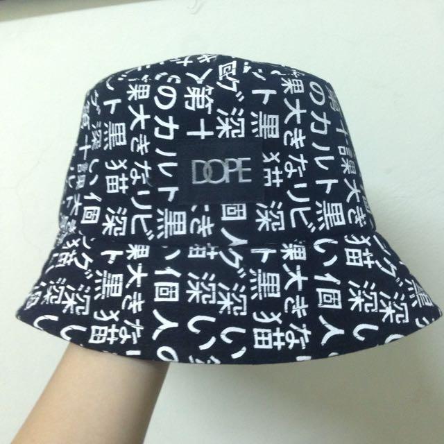 漁夫帽 日文 文字 文青 個性