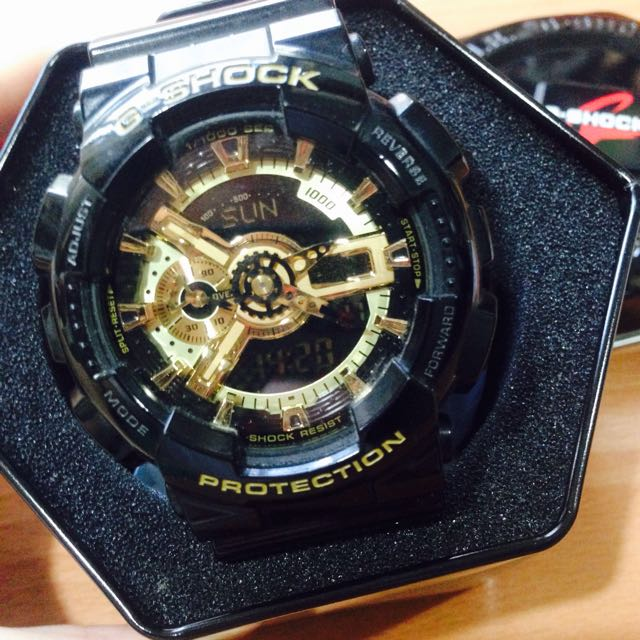 (保留)CASIO卡西歐 G-Shock GA110GB 黑金