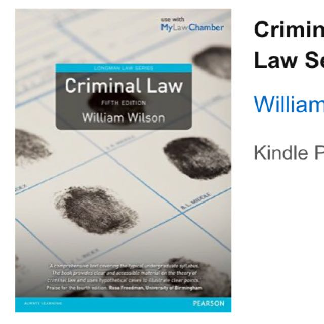 Criminal Law Books (UK)