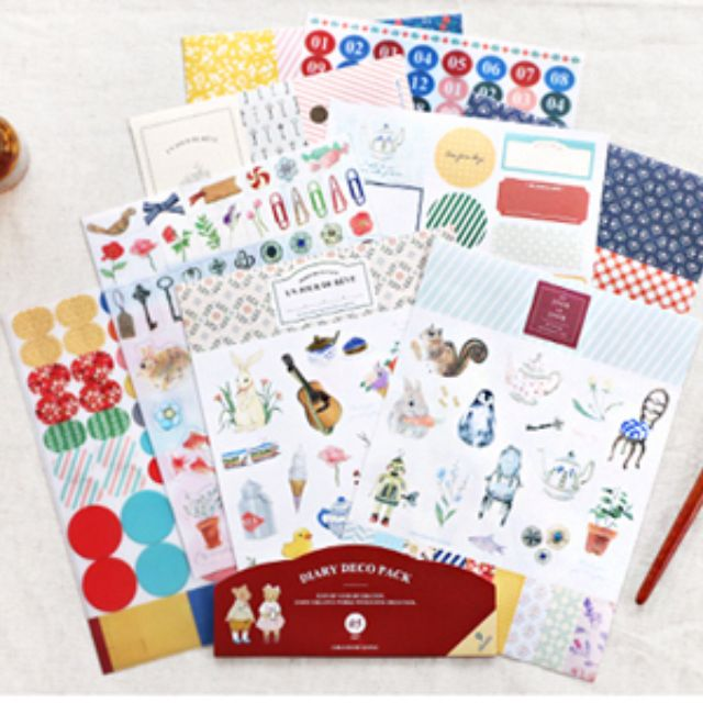 Decoration Sticker Pack (9 sheets)