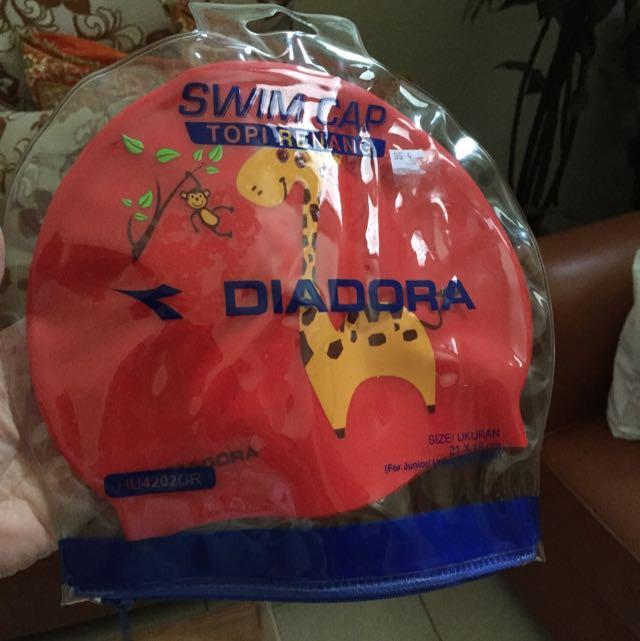 Diadora Swim Cap Sz 21x18 For Kids Original