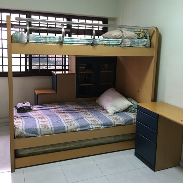 Pending Collection Double Decker Bed With Pull Out Bed Study