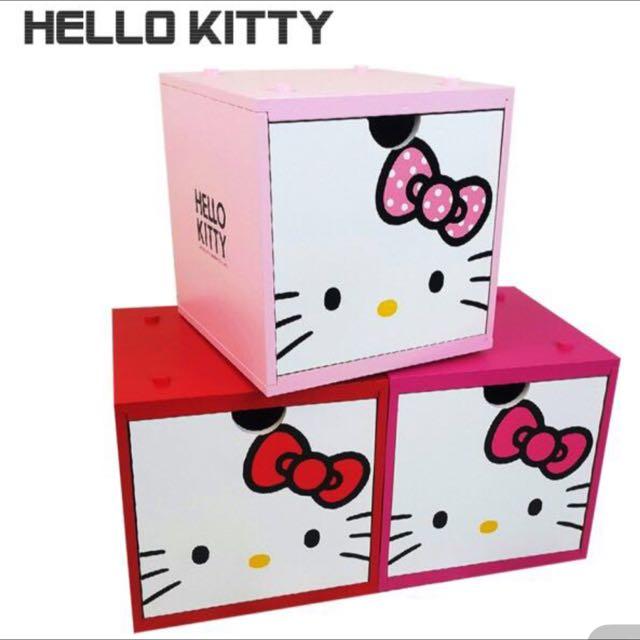 (全新)Hello Kitty積木置物盒只剩粉色