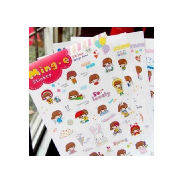 Ming E Korean sticker (4 sheets)