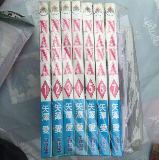NANA漫畫1-7集、電影版VCD、電影伊藤由奈單曲CD