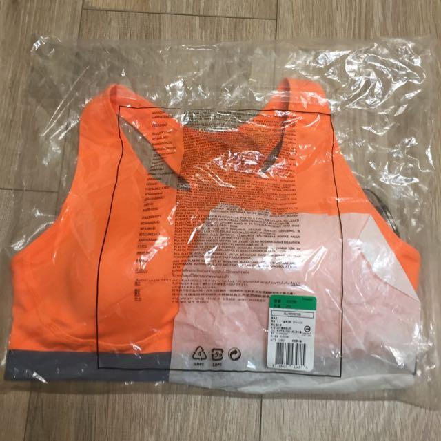 全新原價1280❤️Nike亮橘色運動胸罩 XL