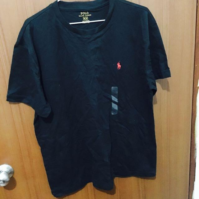 polo黑色logo素踢 🇺🇸 m號