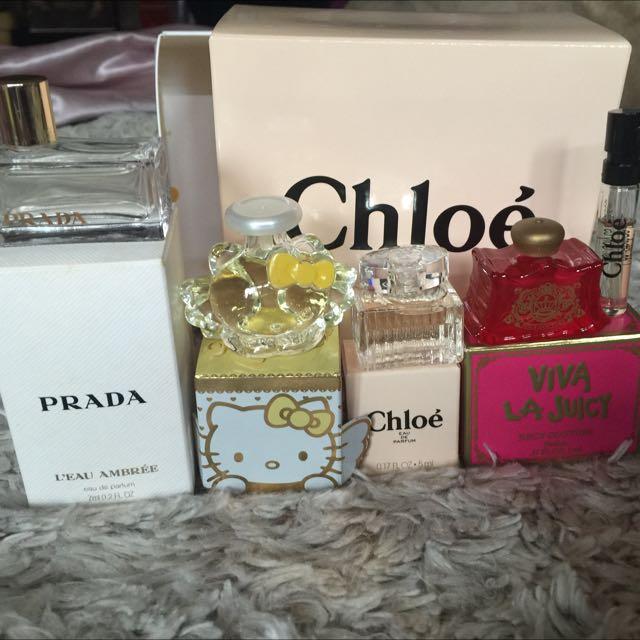 Prada Chloe  Juicy Couture 小香水 香精