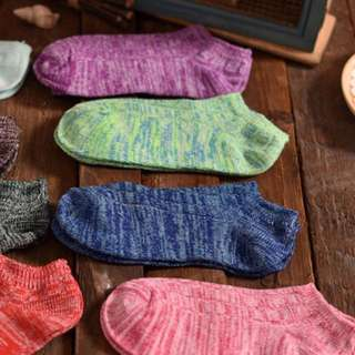 雪花襪 女款 短襪 可愛襪子 混麻色